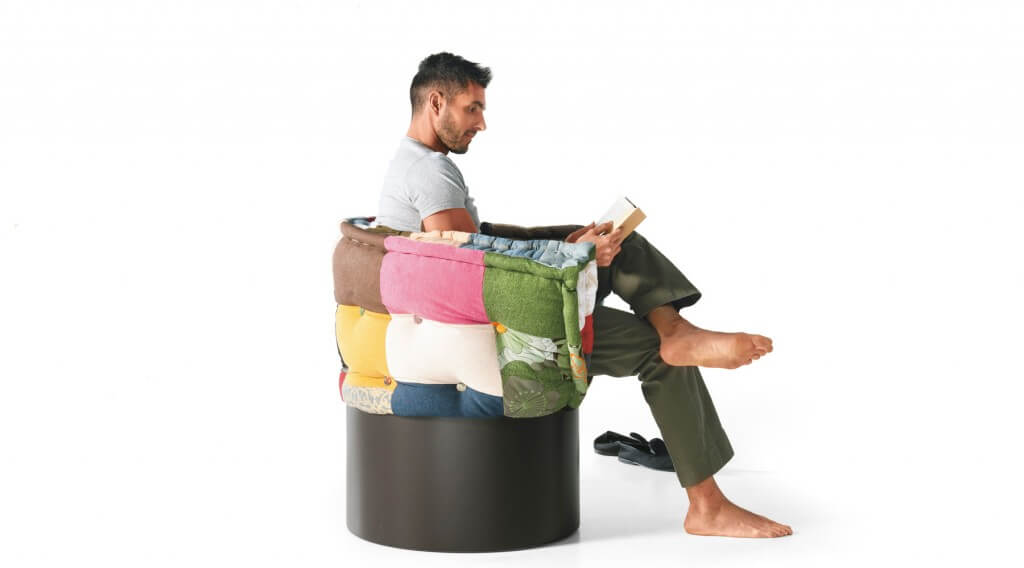 poltrona letto in patchwork