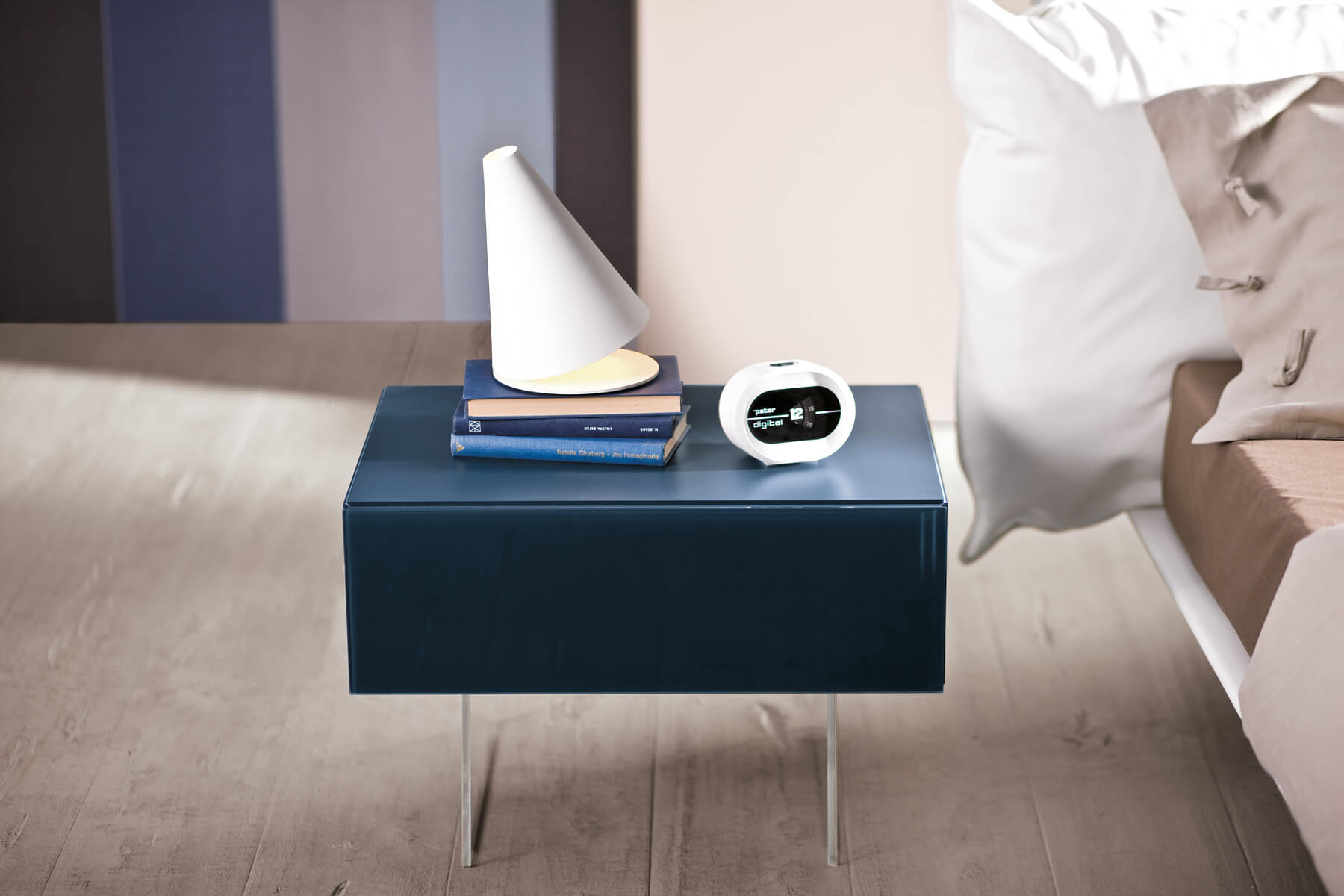 Blu Bedside Table