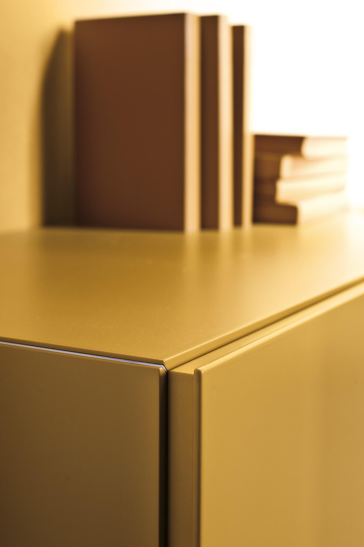 Detail Yellow Bedside Table