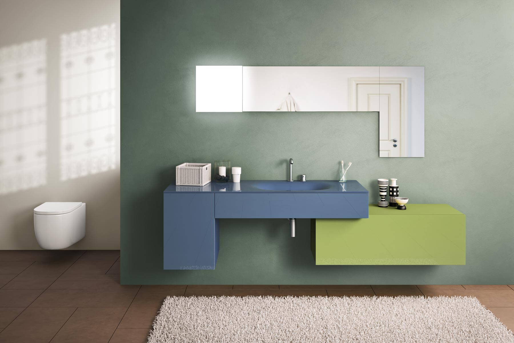 Basin and Storage Bathroom Furniture