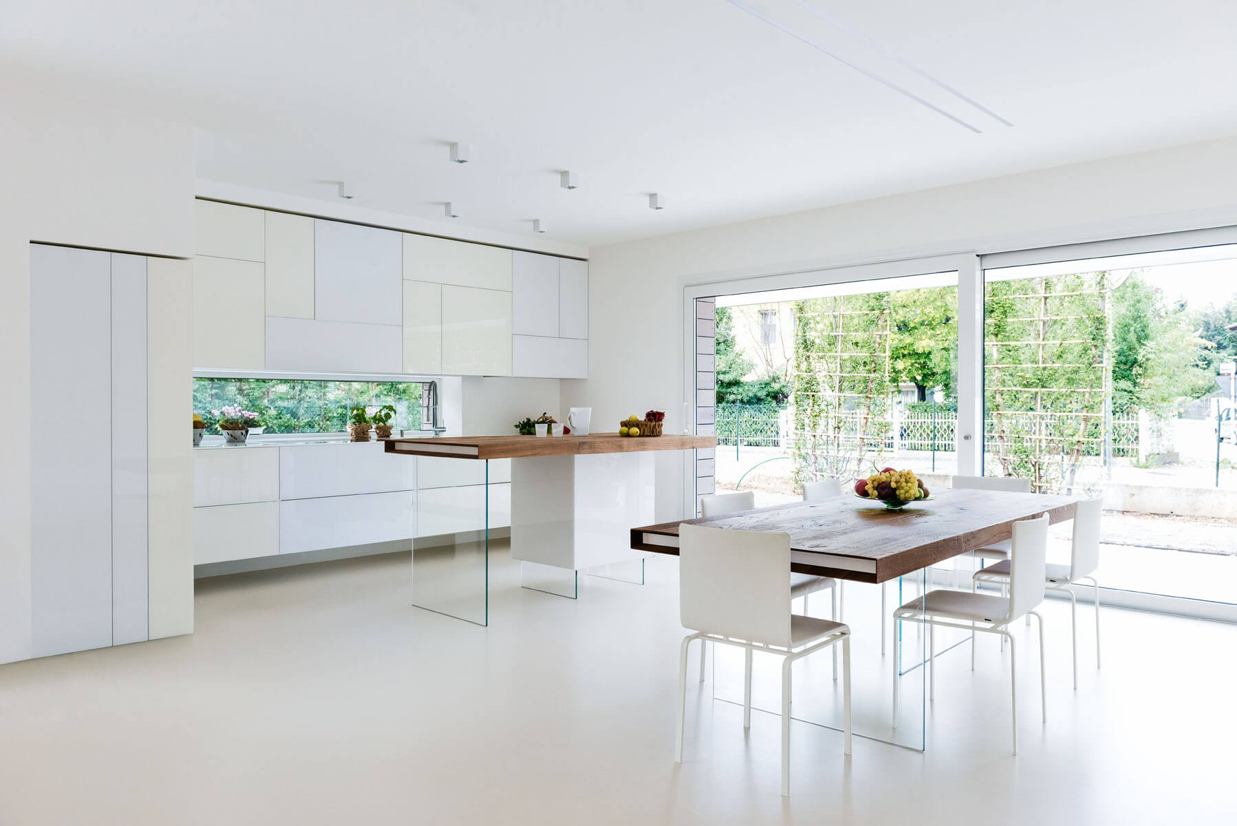 White Kitchen with Table