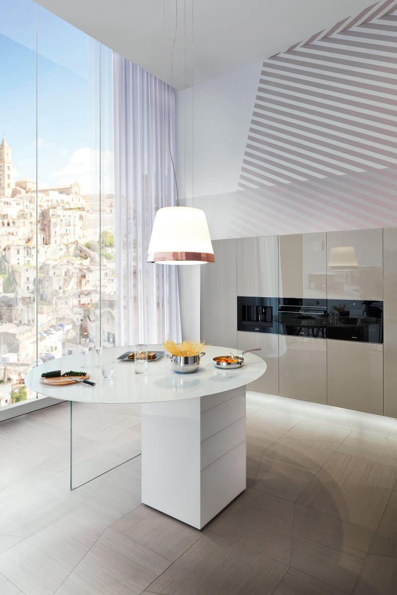 Rounded Design Kitchen