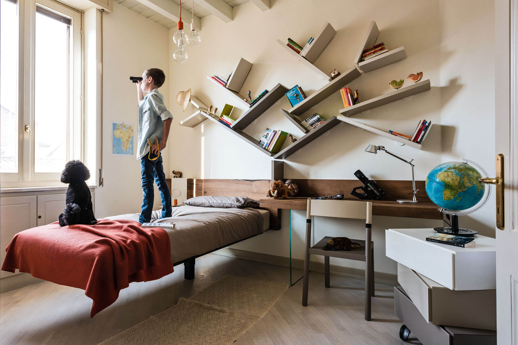 Diagolinea a bookcase for the children 39 s room lago design for Design lago