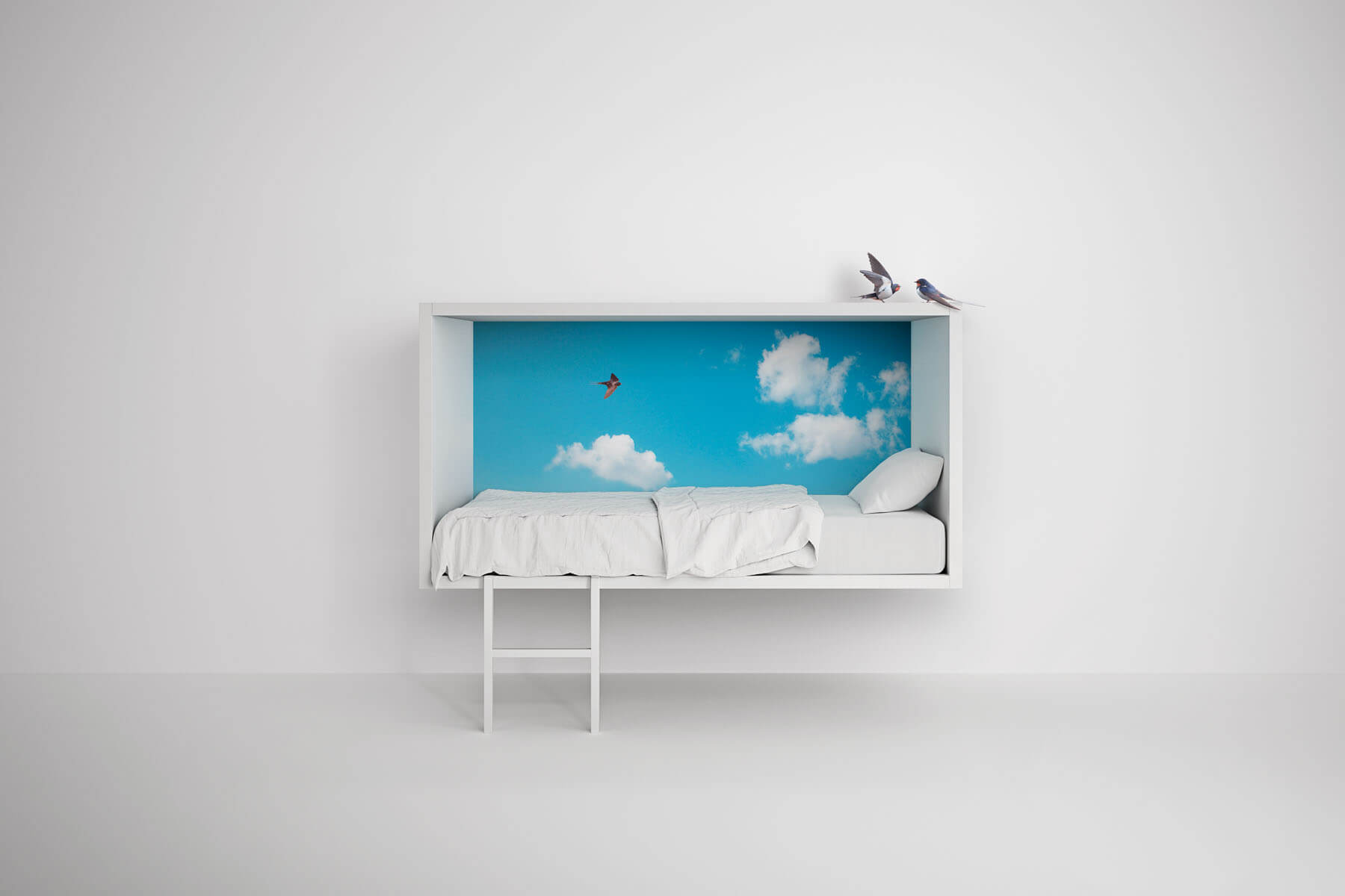 Single cloud bed