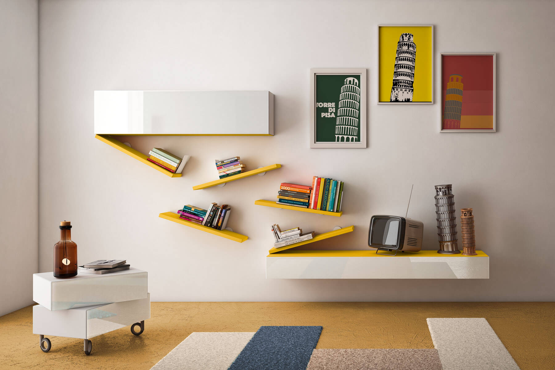 bookshelf diagolinea 4