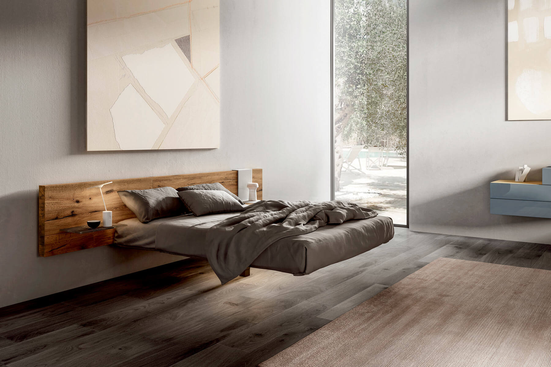 Flutta bed a suspended bed for carefree dreams lago design - Letto matrimoniale rotondo prezzi ...