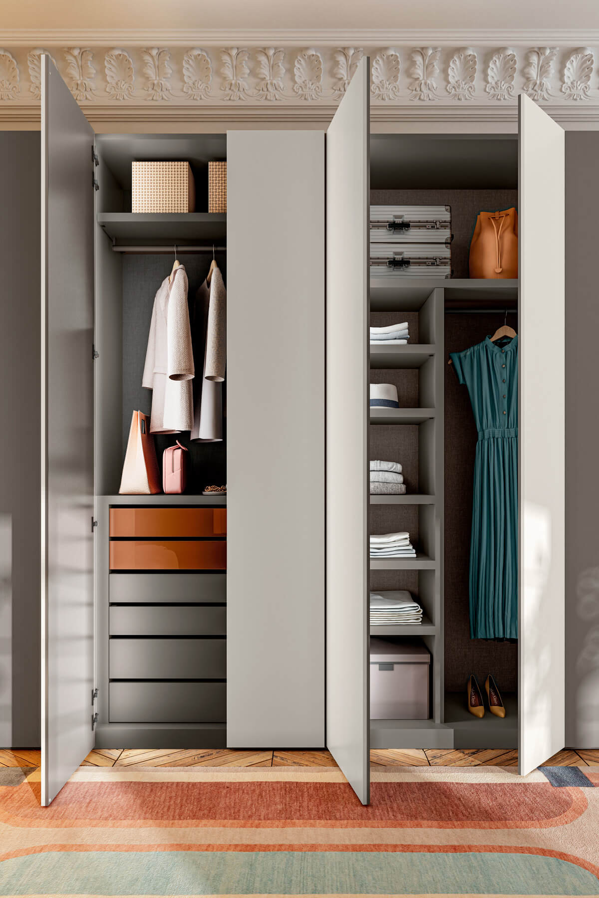 hinged-wardrobe-with-drawers