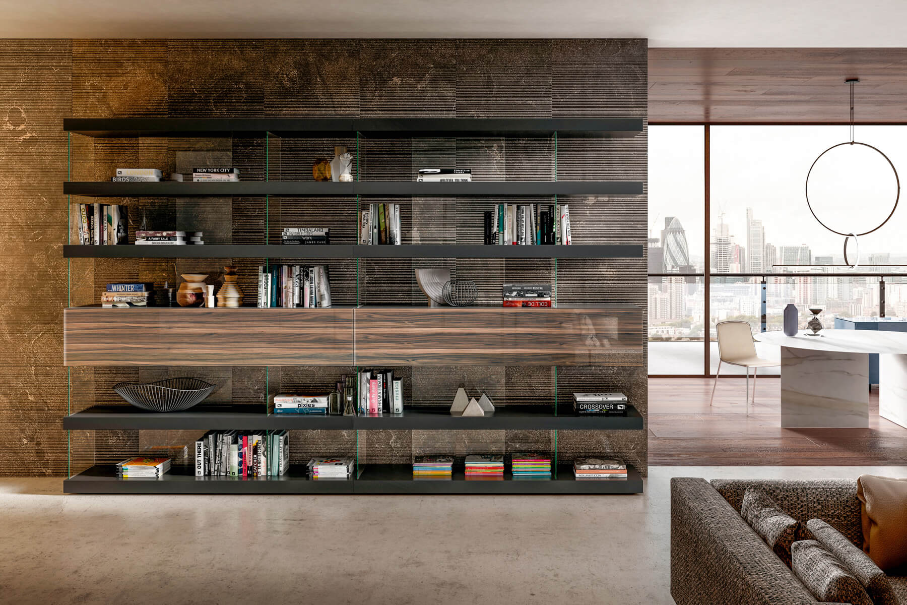 wall-bookcase