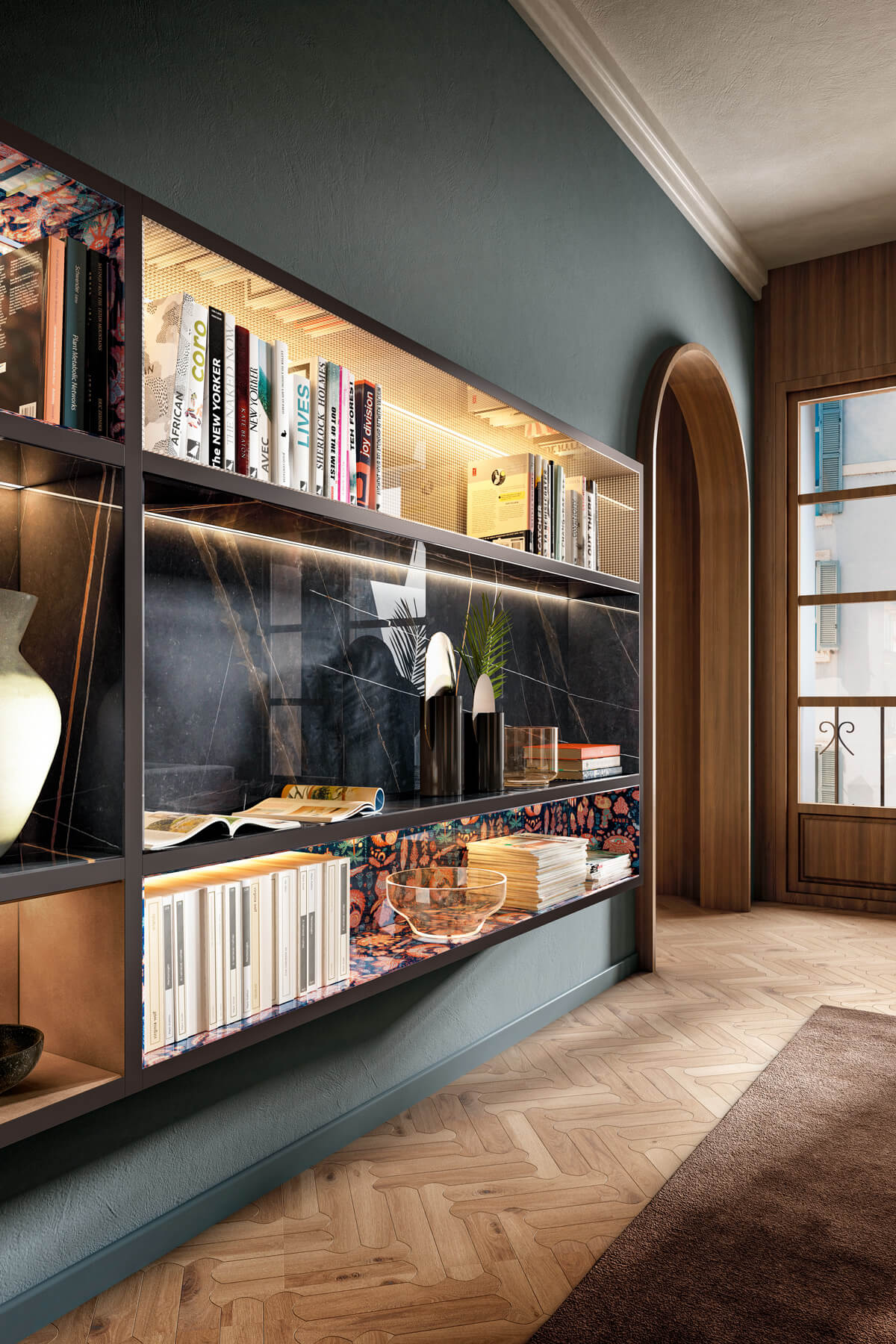 bookcase-mobile-living room