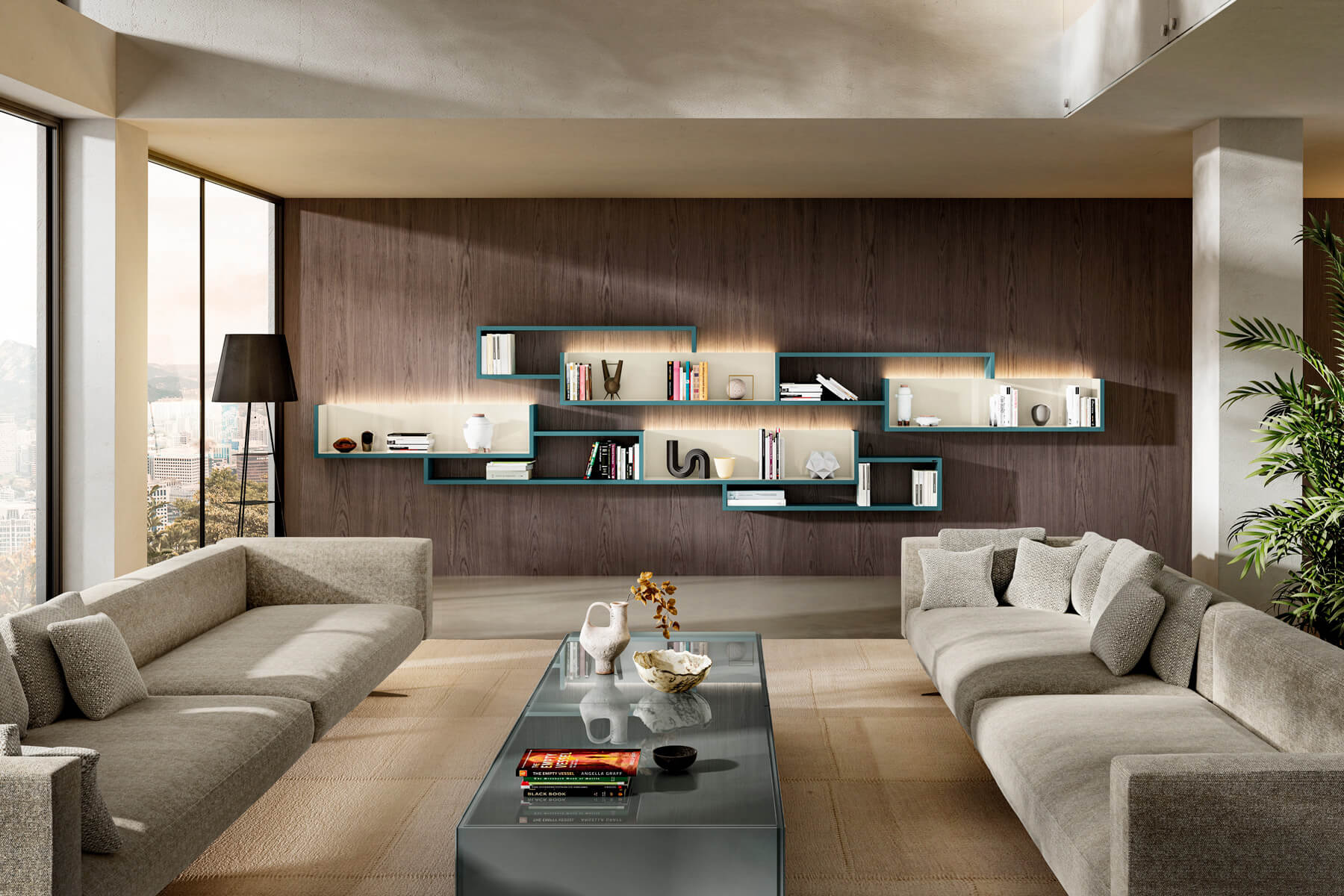 modern-library-living room-lago-design