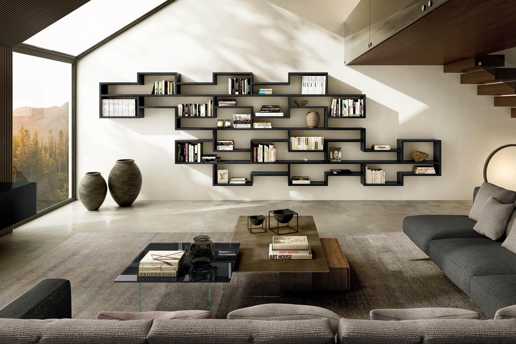 modular-bookcase-living room-lago-design