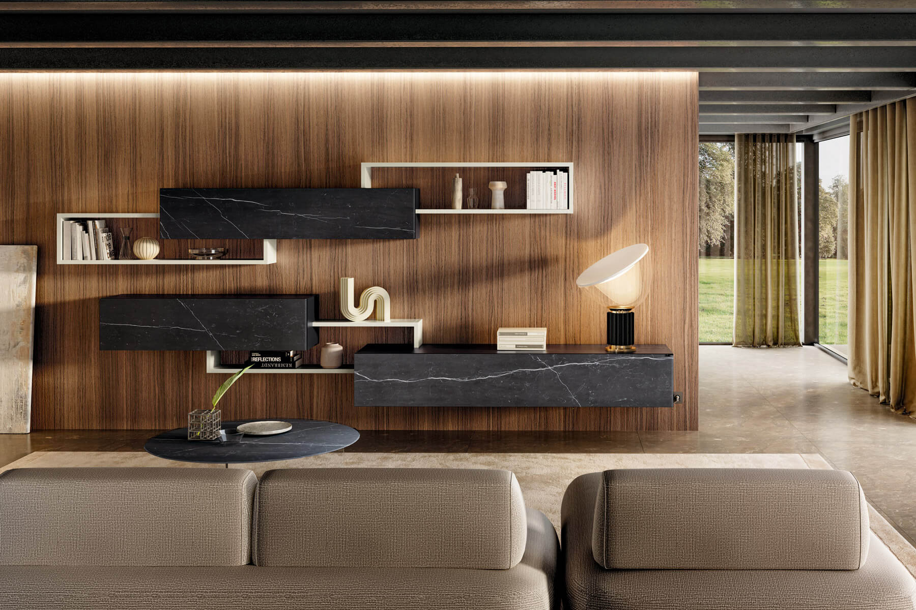 white-and-black-equipped-wall-lago-design