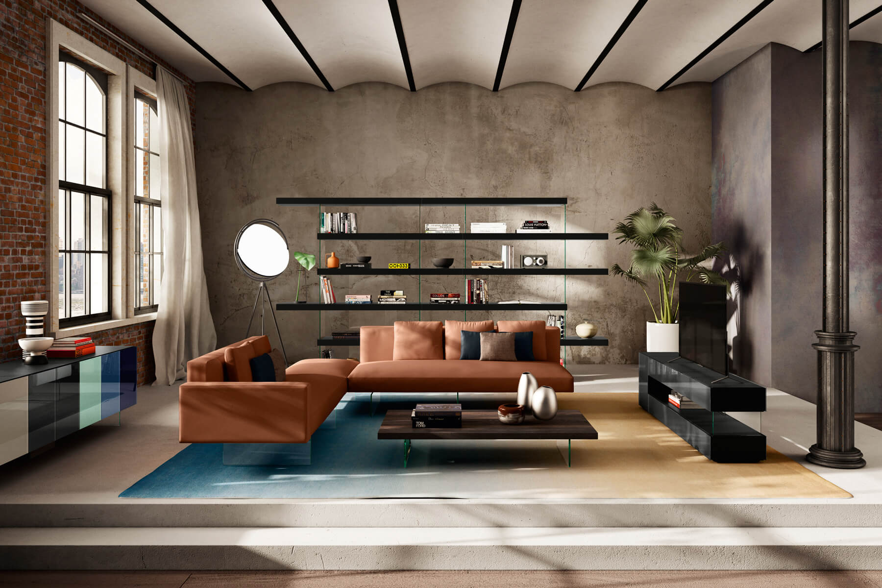 modern-and-colorful-living room