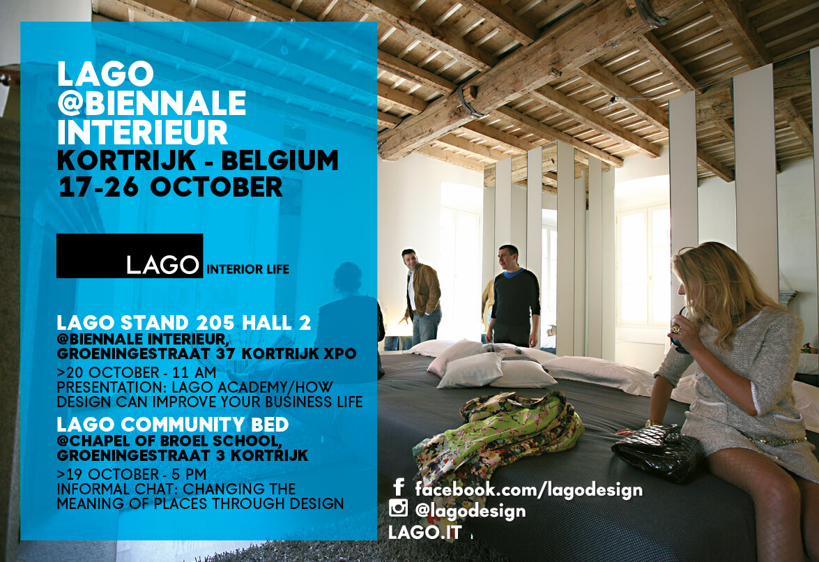 At the biennale interieur kortrijk 2014 lago is rewriting for Interieur meaning